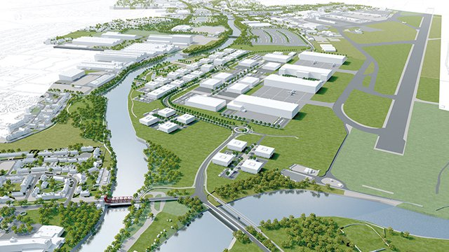 Artist impression of the advanced manufacturing innovation district