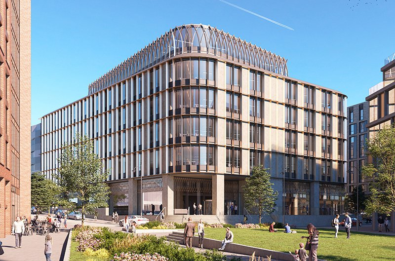 Artist's impression of large commercial building in Derby city centre