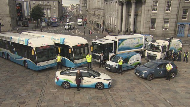 Hydrogen powered buses and council vehicles