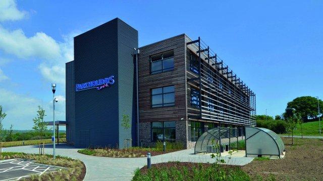 A commercial building in an enterprise park