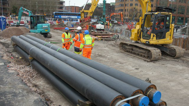 A city construction site