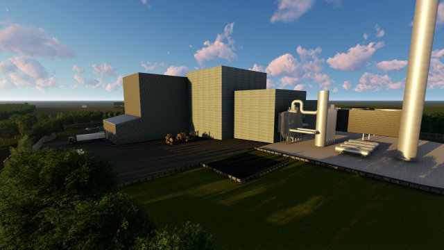 Artist's impression of Cogen energy waste facility