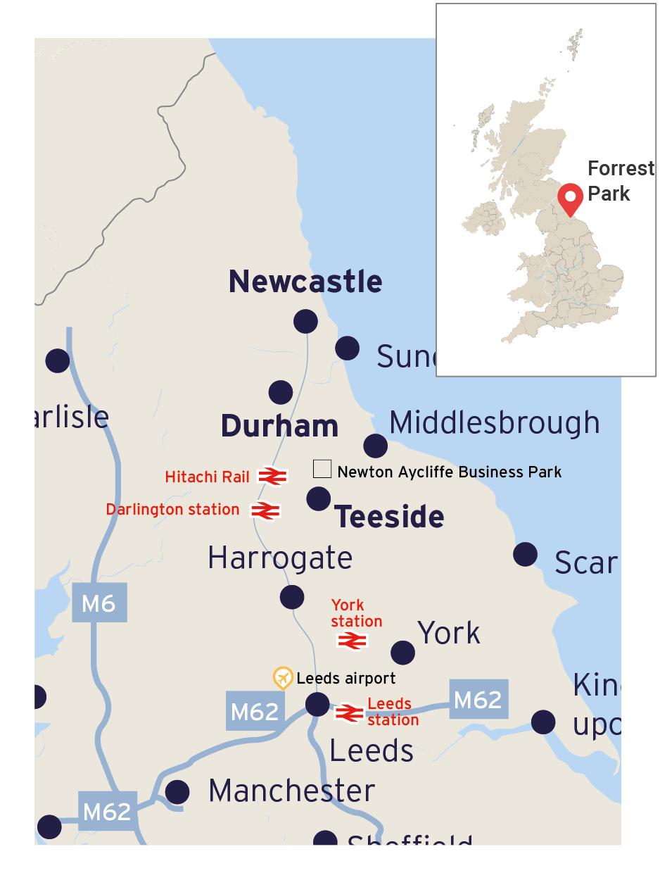 Map of Transport link to forrest park