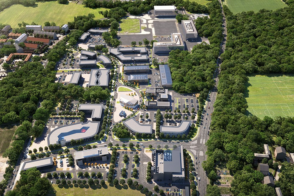 Computer generated image of Harlow Science Park
