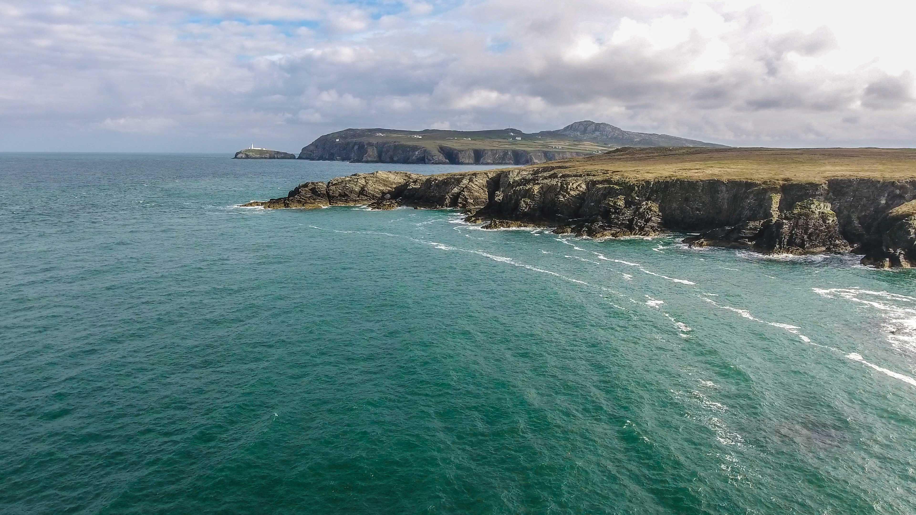 Sea coast in North Wales