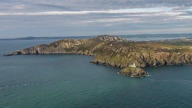 Sea coast in wales